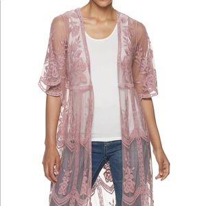 Jodifl Lace Pink Kimono - Medium/large